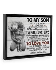 THE GIFT OF LIFE - AMAZING GIFT FOR SON Floating Framed Canvas Prints Black tile