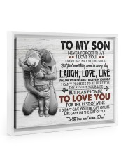 THE GIFT OF LIFE - AMAZING GIFT FOR SON Floating Framed Canvas Prints White tile