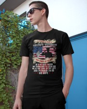 WHO LIGHTS UP MY LIFE - PERFECT GIFT FOR VETERAN Classic T-Shirt apparel-classic-tshirt-lifestyle-17