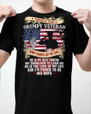 WHO LIGHTS UP MY LIFE - PERFECT GIFT FOR VETERAN Classic T-Shirt apparel-classic-tshirt-lifestyle-front-62