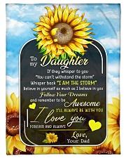 I AM THE STORM - LOVELY GIFT FOR DAUGHTER Fleece Blanket tile