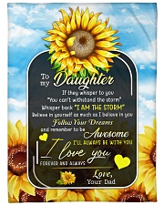 """I AM THE STORM - LOVELY GIFT FOR DAUGHTER Large Fleece Blanket - 60"""" x 80"""" front"""