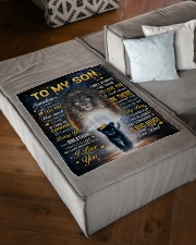 """I LOVE YOU - GREAT GIFT FOR SON Small Fleece Blanket - 30"""" x 40"""" aos-coral-fleece-blanket-30x40-lifestyle-front-03"""