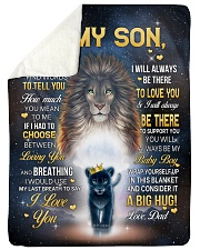 """I LOVE YOU - GREAT GIFT FOR SON Large Sherpa Fleece Blanket - 60"""" x 80"""" thumbnail"""