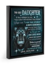 BELIEVE IN YOURSELF - LOVELY GIFT FOR DAUGHTER Floating Framed Canvas Prints Black tile
