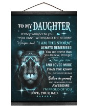 BELIEVE IN YOURSELF - LOVELY GIFT FOR DAUGHTER Hanging Canvas tile