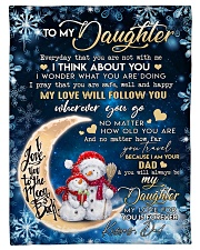 I THINK ABOUT YOU - TO DAUGHTER FROM DAD Fleece Blanket tile