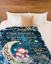 """I THINK ABOUT YOU - TO DAUGHTER FROM DAD Large Fleece Blanket - 60"""" x 80"""" aos-coral-fleece-blanket-60x80-lifestyle-front-02"""