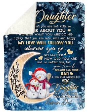 """I THINK ABOUT YOU - TO DAUGHTER FROM DAD Large Sherpa Fleece Blanket - 60"""" x 80"""" thumbnail"""