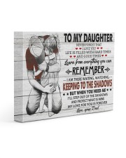 KEEPING TO THE SHADOWS - TO DAUGHTER FROM DAD 14x11 Gallery Wrapped Canvas Prints front