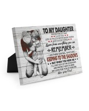 KEEPING TO THE SHADOWS - TO DAUGHTER FROM DAD 10x8 Easel-Back Gallery Wrapped Canvas thumbnail