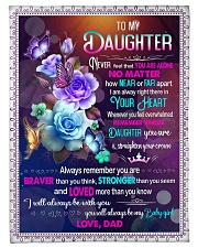 IN YOUR HEART - BEAUTIFUL GIFT FOR DAUGHTER Fleece Blanket tile