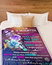 """IN YOUR HEART - BEAUTIFUL GIFT FOR DAUGHTER Large Fleece Blanket - 60"""" x 80"""" aos-coral-fleece-blanket-60x80-lifestyle-front-02"""