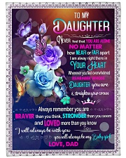 """IN YOUR HEART - BEAUTIFUL GIFT FOR DAUGHTER Large Fleece Blanket - 60"""" x 80"""" front"""