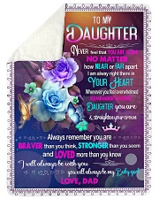 """IN YOUR HEART - BEAUTIFUL GIFT FOR DAUGHTER Large Sherpa Fleece Blanket - 60"""" x 80"""" thumbnail"""