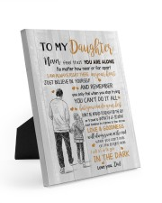 JUST BELIEVE IN YOURSELF - BEST GIFT FOR DAUGHTER Easel-Back Gallery Wrapped Canvas tile