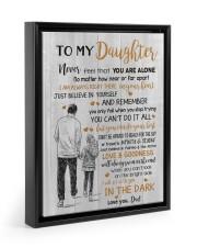 JUST BELIEVE IN YOURSELF - BEST GIFT FOR DAUGHTER Floating Framed Canvas Prints Black tile
