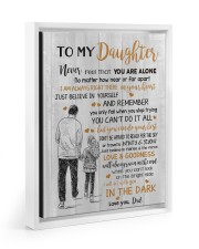 JUST BELIEVE IN YOURSELF - BEST GIFT FOR DAUGHTER Floating Framed Canvas Prints White tile