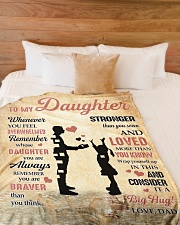 """CONSIDER IT A BIG HUG - LOVELY GIFT FOR DAUGHTER Large Fleece Blanket - 60"""" x 80"""" aos-coral-fleece-blanket-60x80-lifestyle-front-02"""