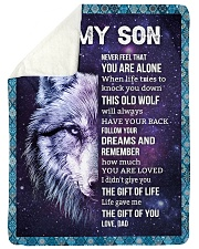 "THE GIFT OF LIFE - AMAZING GIFT FOR SON Large Sherpa Fleece Blanket - 60"" x 80"" thumbnail"