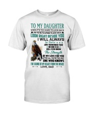 LOOK RIGHT BESIDE YOU - LOVELY GIFT FOR DAUGHTER Premium Fit Mens Tee tile