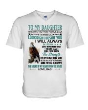 LOOK RIGHT BESIDE YOU - LOVELY GIFT FOR DAUGHTER V-Neck T-Shirt tile