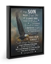 THIS OLD EAGLE - BEST GIFT FOR SON FROM DAD 11x14 Black Floating Framed Canvas Prints thumbnail