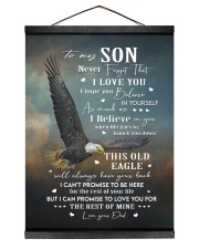 THIS OLD EAGLE - BEST GIFT FOR SON FROM DAD 12x16 Black Hanging Canvas thumbnail