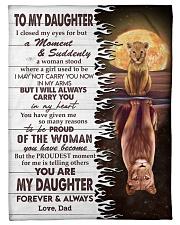 CARRY YOU IN MY HEART - LOVELY GIFT FOR DAUGHTER Fleece Blanket tile