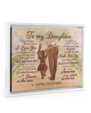 BELIEVE IN YOURSELF - LOVELY GIFT FOR DAUGHTER 14x11 White Floating Framed Canvas Prints thumbnail