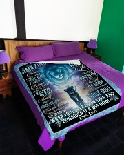 """I HOPE YOU BELIEVE IN YOURSELF Large Fleece Blanket - 60"""" x 80"""" aos-coral-fleece-blanket-60x80-lifestyle-front-01"""