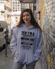 MESS WITH ME - AMAZING GIFT FOR DAUGHTER Hooded Sweatshirt lifestyle-unisex-hoodie-front-1