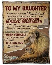 STRAIGHTEN YOUR CROWN - LOVELY GIFT FOR DAUGHTER Fleece Blanket tile
