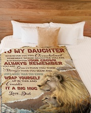 """STRAIGHTEN YOUR CROWN - LOVELY GIFT FOR DAUGHTER Large Fleece Blanket - 60"""" x 80"""" aos-coral-fleece-blanket-60x80-lifestyle-front-02"""
