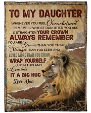 """STRAIGHTEN YOUR CROWN - LOVELY GIFT FOR DAUGHTER Large Fleece Blanket - 60"""" x 80"""" front"""