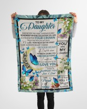 """YOU ARE MY SUNSHINE - BEST GIFT FOR DAUGHTER Small Fleece Blanket - 30"""" x 40"""" aos-coral-fleece-blanket-30x40-lifestyle-front-14a"""