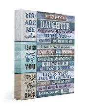 HOW MUCH YOU MEAN TO ME - LOVELY GIFT FOR DAUGHTER 11x14 Gallery Wrapped Canvas Prints front