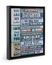 HOW MUCH YOU MEAN TO ME - LOVELY GIFT FOR DAUGHTER Floating Framed Canvas Prints Black tile