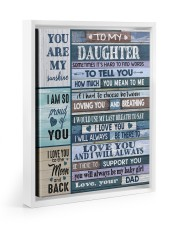 HOW MUCH YOU MEAN TO ME - LOVELY GIFT FOR DAUGHTER Floating Framed Canvas Prints White tile