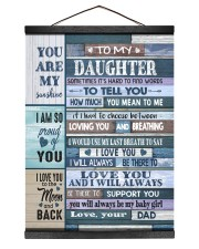 HOW MUCH YOU MEAN TO ME - LOVELY GIFT FOR DAUGHTER Hanging Canvas tile