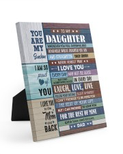 I LOVE YOU - GREAT GIFT FOR DAUGHTER FROM DAD 8x10 Easel-Back Gallery Wrapped Canvas thumbnail
