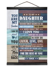 I LOVE YOU - GREAT GIFT FOR DAUGHTER FROM DAD 12x16 Black Hanging Canvas thumbnail
