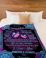 "I LOVE YOU FOREVER AND ALWAYS Large Fleece Blanket - 60"" x 80"" aos-coral-fleece-blanket-60x80-lifestyle-front-02"