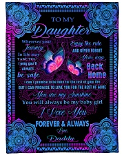 "I LOVE YOU FOREVER AND ALWAYS Large Fleece Blanket - 60"" x 80"" front"