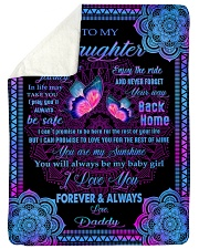 "I LOVE YOU FOREVER AND ALWAYS Large Sherpa Fleece Blanket - 60"" x 80"" thumbnail"