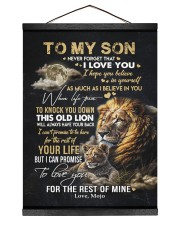 I BELIEVE IN YOU - GREAT GIFT FOR SON FROM MOJO 12x16 Black Hanging Canvas thumbnail