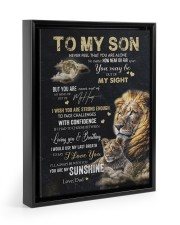 YOU ARE MY SUNSHINE - GREAT GIFT FOR SON FROM DAD 11x14 Black Floating Framed Canvas Prints thumbnail