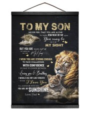 YOU ARE MY SUNSHINE - GREAT GIFT FOR SON FROM DAD 12x16 Black Hanging Canvas thumbnail