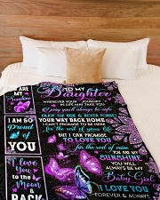 """I LOVE YOU - SPECIAL GIFT FOR DAUGHTER Large Fleece Blanket - 60"""" x 80"""" aos-coral-fleece-blanket-60x80-lifestyle-front-02"""