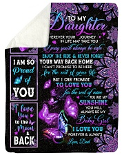 """I LOVE YOU - SPECIAL GIFT FOR DAUGHTER Large Sherpa Fleece Blanket - 60"""" x 80"""" thumbnail"""